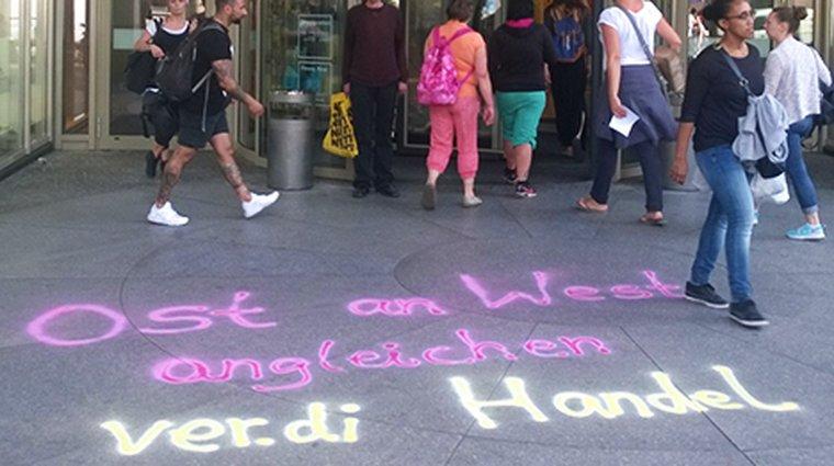 Streiks im Einzelhandel in Berlin