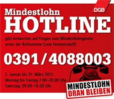 Mindestlohn-Hotline