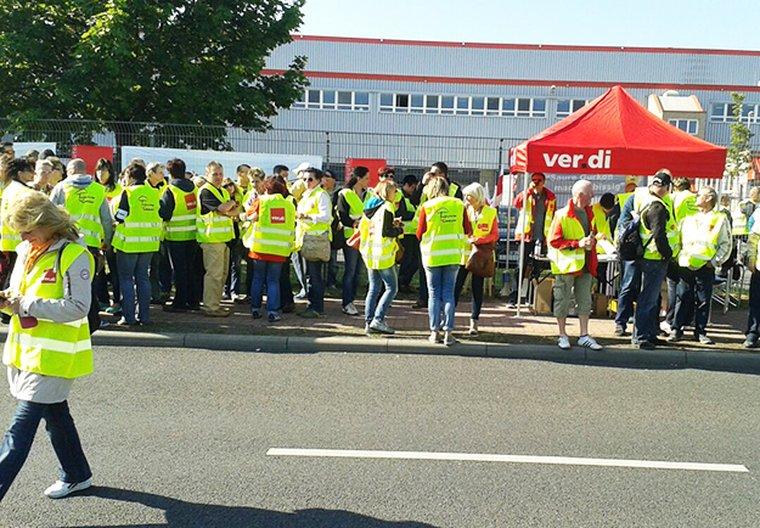 Streikauftakt Kaufland Logistik Lübbenau