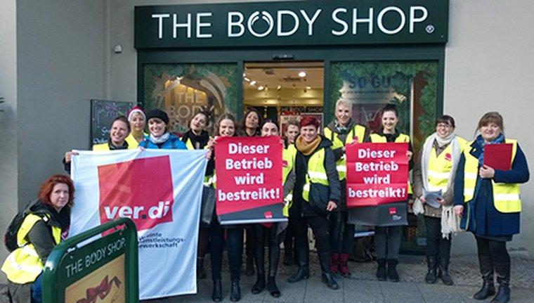 Warnstreik Body Shop