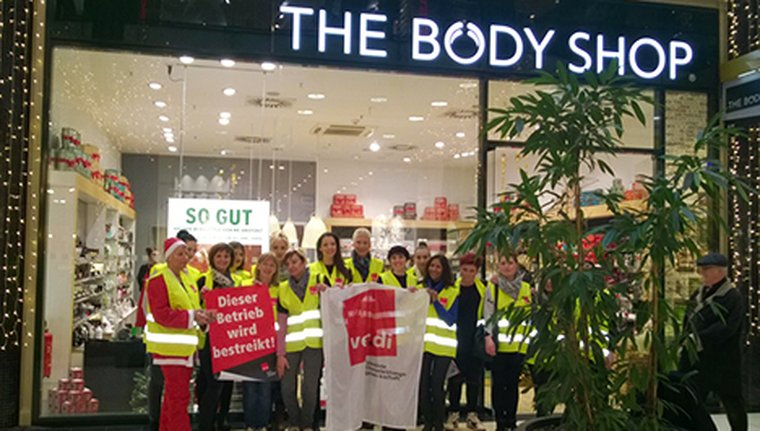 Streik bei The Body Shop