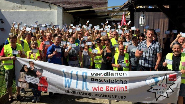 Fortsetzung des Streiks in Lübbenau