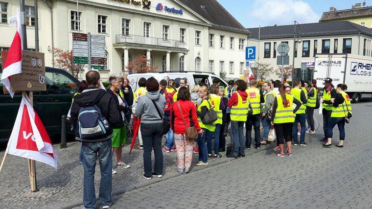 Warnstreik Kaufland Hohen Neuendorf