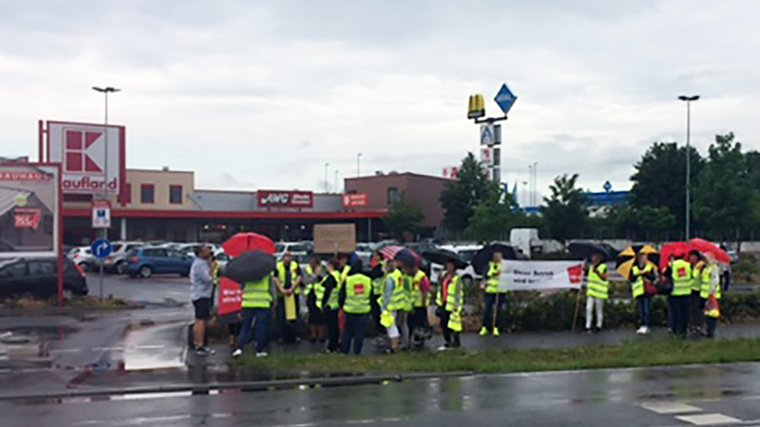 Warnstreik Kaufland Blankenfelde-Mahlow