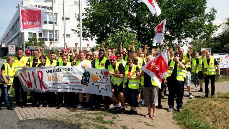 Warnstreik bei Zalando am 21. Juni