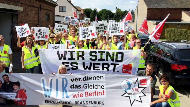 Warnstreik in Lübbenau