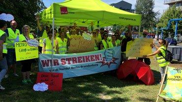 Streik im Großhandel 24. Juni